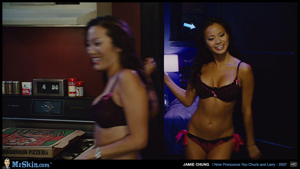 Jamie Chung and her hot friend; Celebrity Hot