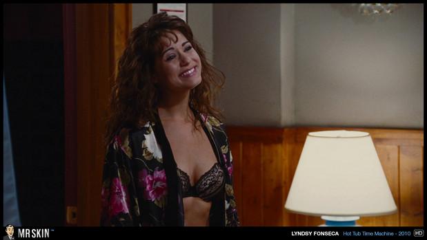 Sexy Lyndsy Fonseca in silk nightgown; Celebrity Hot