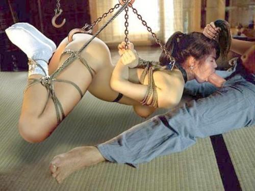 Hanging; Bdsm Blowjob