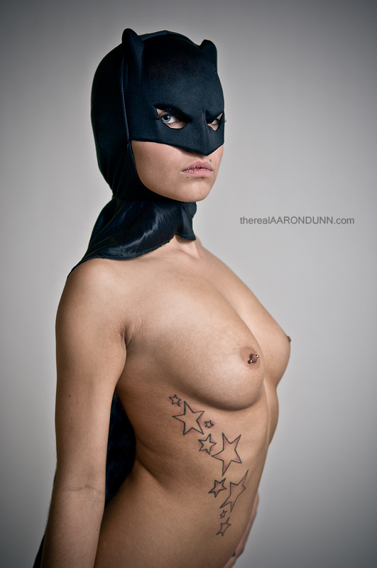 Tatooed batgirl; Uniform