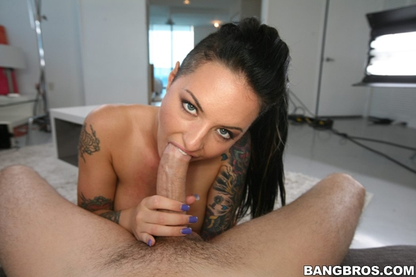 christy mack blowjob