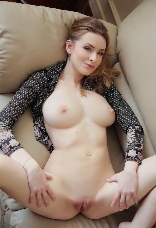 Big white tits and pussy