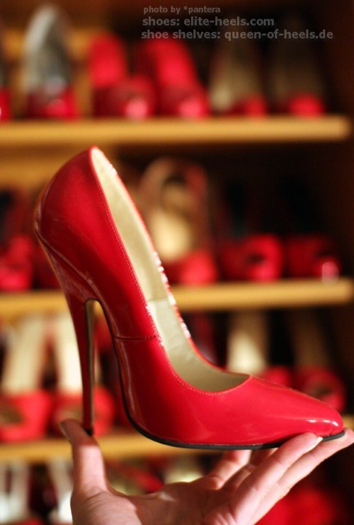 red pumps; Female Friendly Feet