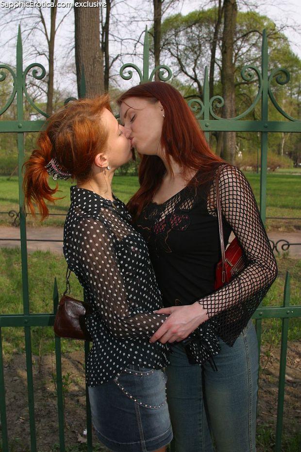 ...; Lesbian Red Head